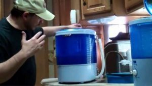 How to clean inside portable washing machine